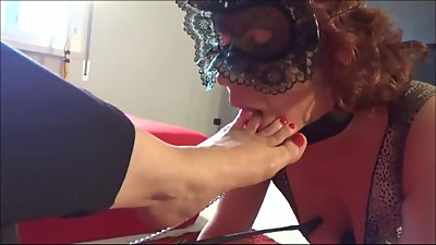 Mature blonde sexy foot worship