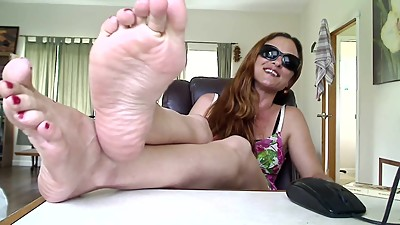 Feet on the table