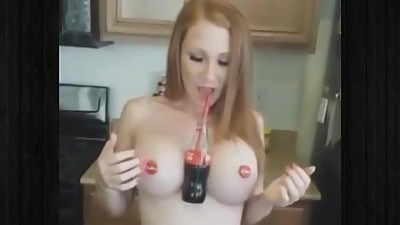 Hold Coke With Your Boobs Challenge..