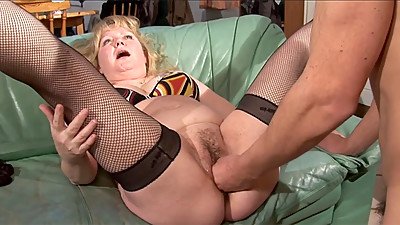Chubby mature French slut fucked in..