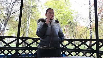 Russian woman smokes
