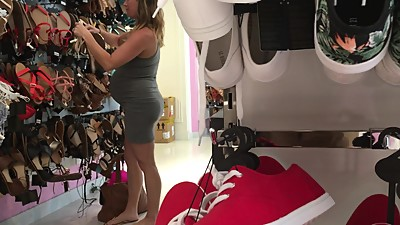 19yr old pregnant Nicole shopping for..