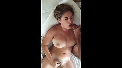 Sucking hubbies dick while fingering..