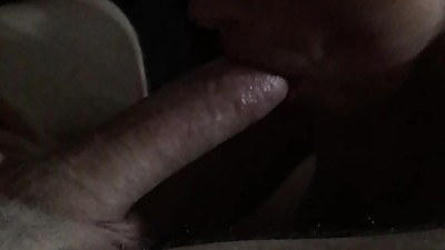Spun slut sucks and almost swallows..