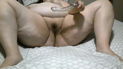BBW with Glass Dildo