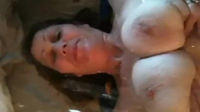 BBW Slut with Small Tits Gets Pissed..