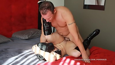 800DAD Hooded Fetish Slut gets Slammed..