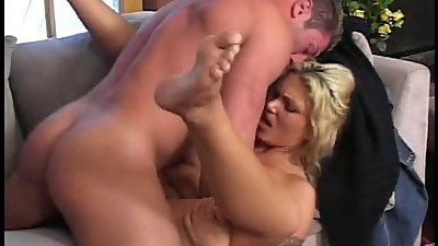 Slutty blond whores dildo and cock fuck
