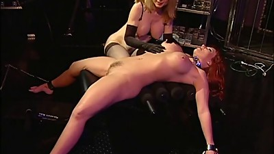 Slut getting her mouth and cunt filled..