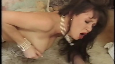 Big breasted brunette fucked in pussy..