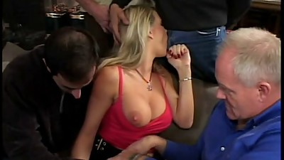 Beautiful breasty blond stabbed by..