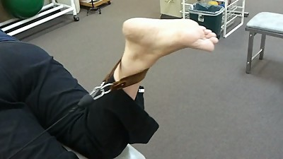 Candid Feet: Mature Exercise