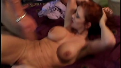 Horny redheaded beauty gets her tight..