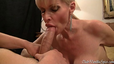 Horny MILF loves to swallow hard cock..