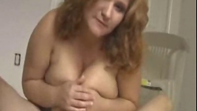 Busty chubby MILF with huge tits..