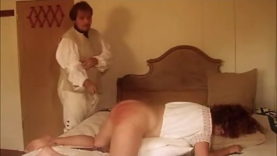 Getting Her Ass Spanked Red
