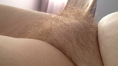 close up side shot of my wifes hairy..