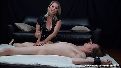 MILF handjob proves sons cock is..