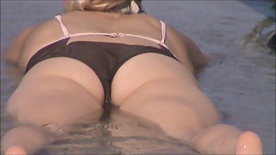 hot blonde super wet crotch shot 62