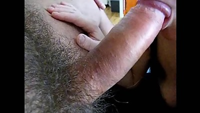 Blowing Stiff Hard Cock