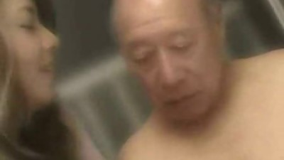 Old Man + Beautiful Japanese MILF -..