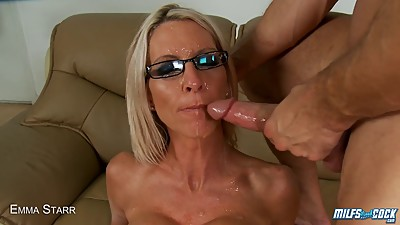 Blonde MILF Sits On A Big Cock And..