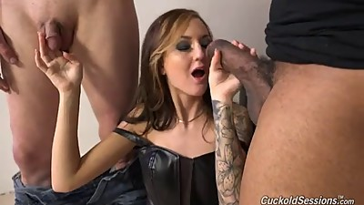 Slut wife Kendra takes BBC in front of..