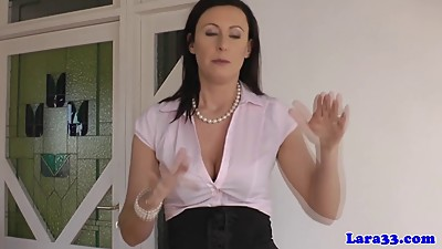 Mature in lingerie gets spanked by..