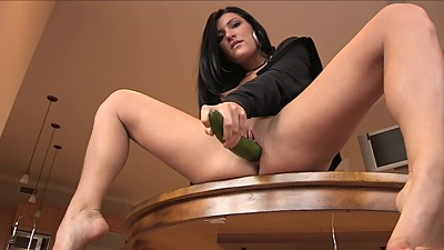 Hot Mature Brunette - Big Dildo &..