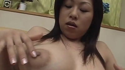 Nana enjoys warm masturbation