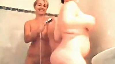 Two Chubby Lesbians in the Shower