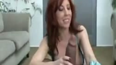 Redhead milf sucks monster black cock