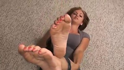 Kara's dirty feet joi