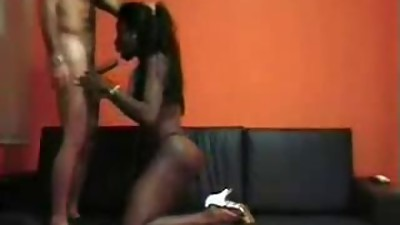 White Men and Hot Ebony Milf fucking..
