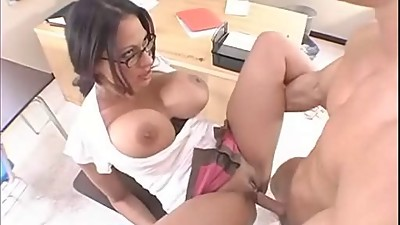 Ava Lauren taking stick in pussy