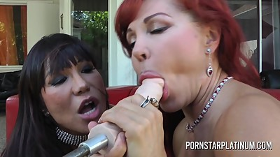 Lesbian Milfs Ass licking and Machine..