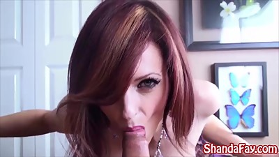 Shanda Fay Gives Him a Titty Fuck in..