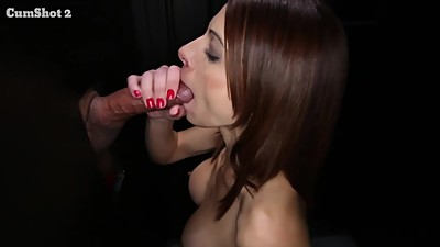 Cum swallowing milf loves the gloryhole