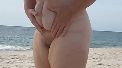 mom at the beach