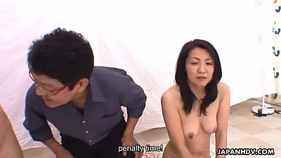 Teen masturbates as the milf blows a..