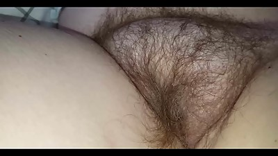 stroking the wifes big soft hairy bush