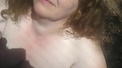 mature granny pale bbw gives handjob..