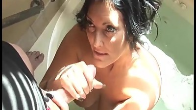Bathtub handjob