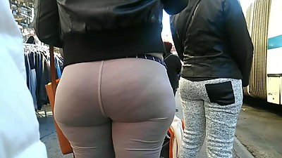 Bubble Ass Milf Vpl in Grey Sweats
