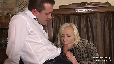 Naughty french mature hard sodomized..