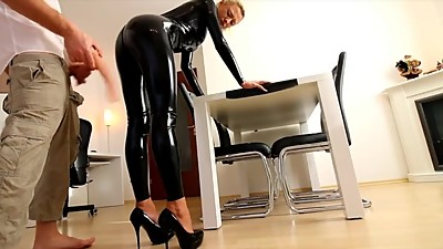 MILF in black latex - Extreme ANAL and..