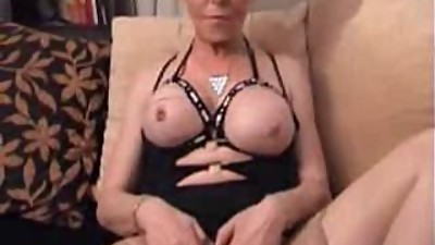 Tarty Granny in Stockings Doubles Up