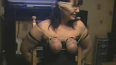 Whipping tits of my submissive whore...