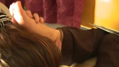 Office girls worship Bossy Dina feets