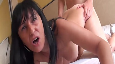 Insatiable brunette milf wants a young..
